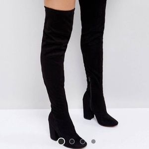 ASOS Katcher heeled over the knee boot size 7
